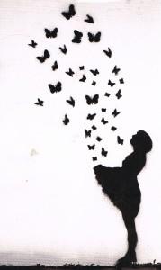 vlinders in buik
